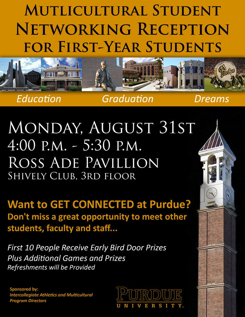 Multicultural Student Networking Flyer