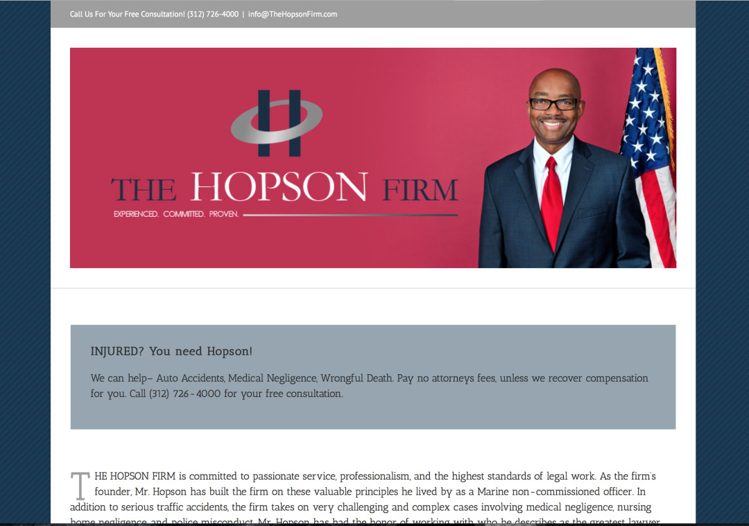 The Hopson Firm Logo Design