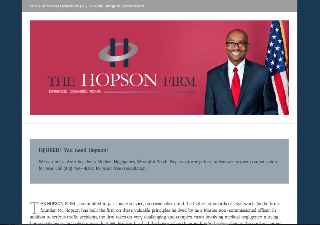 The Hopson Firm Logo Design