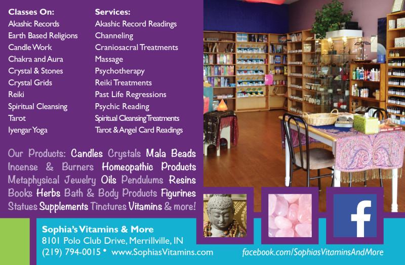 Sophia's Vitamins & More Postcard